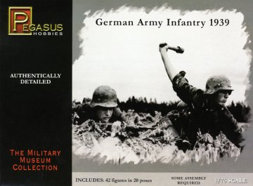 German Army Infantry 1939 Military Museum Collection · PGH 7499 ·  Pegasus Hobbies · 1:76