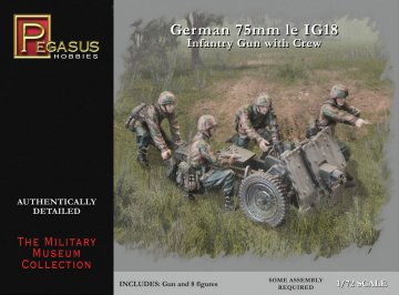 German 75mm 1e IG18 Infantry Gun with Crew · PGH 7510 ·  Pegasus Hobbies · 1:72