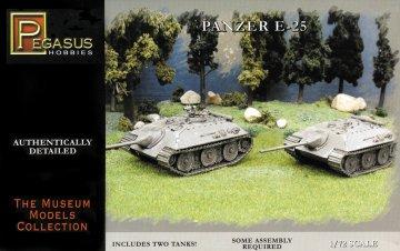 German E-25 tank · PGH 7602 ·  Pegasus Hobbies · 1:72