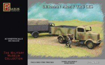 German Army Trucks WW II (2 per box) · PGH 7610 ·  Pegasus Hobbies · 1:72