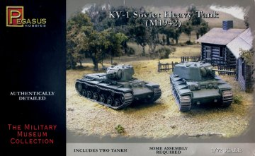 KV-1 late welded or car turret choice of turrets=total 4 turrets · PGH 7666 ·  Pegasus Hobbies · 1:72