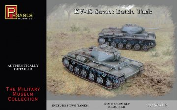 KV-1S Soviet Battle Tank (2 per box) · PGH 7667 ·  Pegasus Hobbies · 1:72