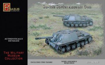 Su-152 Soviet Assault Gun (2 per box) · PGH 7668 ·  Pegasus Hobbies · 1:72
