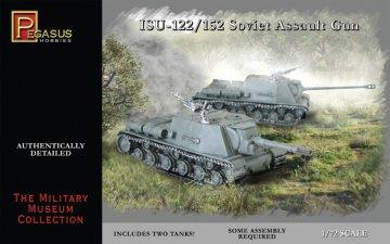 ISU-122/152 Soviet Assault Gun · PGH 7670 ·  Pegasus Hobbies · 1:72