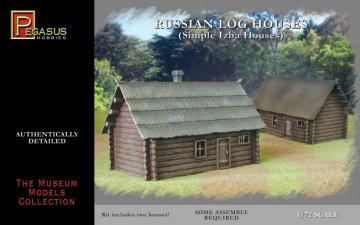 Russian Single storey log house 2 pcs · PGH 7703 ·  Pegasus Hobbies · 1:72