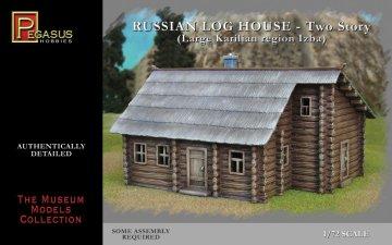 Russian storey log house 1 piece · PGH 7704 ·  Pegasus Hobbies · 1:72
