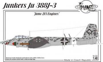Junkers Ju 338 J-3 Jumo 213 engines · PLM 222 ·  Planet Models · 1:48