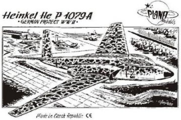 Heinkel He P 1079 A WWII Projekte · PLM CM72002 ·  Planet Models · 1:72
