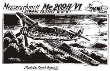 Messerschmitt Me 209 H/V1 WW II Projekte · PLM CM72005 ·  Planet Models · 1:72
