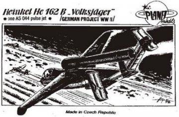 Heinkel He 162 B Mit einem AS 044 pulsat. Triebwerk. · PLM CM72008 ·  Planet Models · 1:72