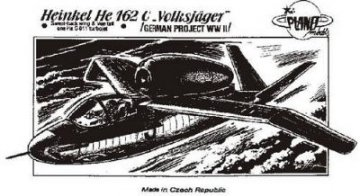 Heinkel He 162 C Volksjäger Mit He S 011 Triebwerk.. · PLM CM72010 ·  Planet Models · 1:72