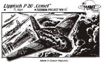 Lippisch P.20 Comet WW II Projekt · PLM CM72014 ·  Planet Models · 1:72