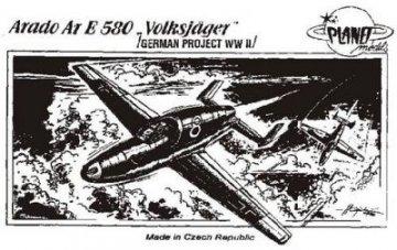 Arado Ar.E-580 Volksjäger, WW II Projekt · PLM CM72015 ·  Planet Models · 1:72
