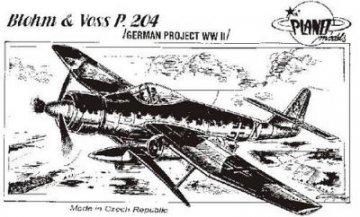 Blohm & Voss BV P.204 · PLM CM72026 ·  Planet Models · 1:72