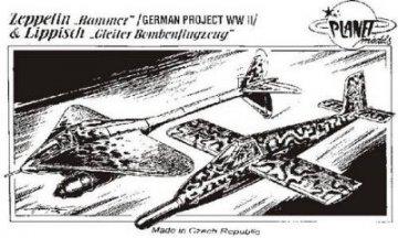 Zeppelin Rammer & Lippisch Gleiter · PLM CM72033 ·  Planet Models · 1:72