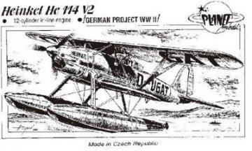 Heinkel He 114 V-2 12-Zylinder-Reihentriebwerk · PLM CM72036 ·  Planet Models · 1:72