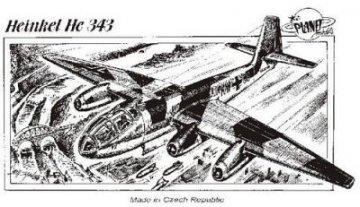Heinkel He 343 · PLM CM72042 ·  Planet Models · 1:72