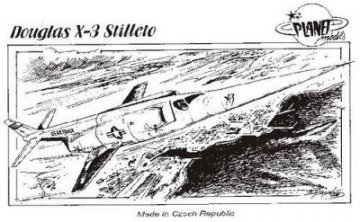 Douglas X-3 Stilleto · PLM CM72045 ·  Planet Models · 1:72