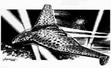 Focke-Wulf Fw Entwurf B 3x1000 Delta Bomber · PLM CM72047 ·  Planet Models · 1:72