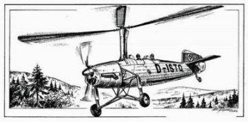 Focke-Wulf Fw 186 Autogiro · PLM CM72092 ·  Planet Models · 1:72