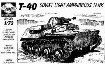 T-40 Amphibious Tank · PLM CMV72001 ·  Planet Models · 1:72