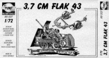 3,7 cm Flak 43 · PLM CMV72007 ·  Planet Models · 1:72
