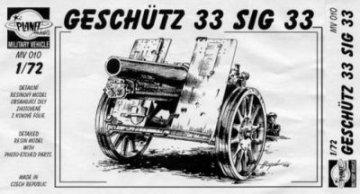 SiG 33, Schwere 15 cm infanterie Gesch. 33 · PLM CMV72010 ·  Planet Models · 1:72
