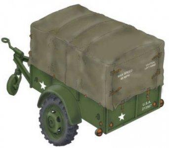 WWII US Cargo Trailer Ben Hur · PLM MV088 ·  Planet Models · 1:72