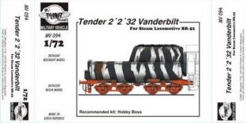 Tender 2 2 32 Vanderbilt for BR 52 Locomotive für Hobby Boss Bausatz · PLM MV094 ·  Planet Models · 1:72