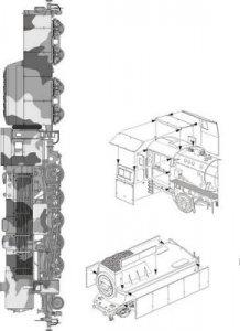 German locomotive BR-52 Armoring for Locomotive´s Boiler for Hobby Boss Kit · PLM MV095 ·  Planet Models · 1:72
