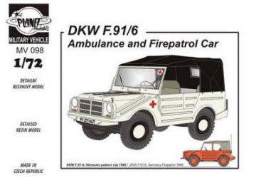 DKW F-91/6 (Ambulance and Fire patrol ca · PLM MV098 ·  Planet Models · 1:72