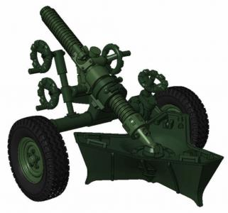 MO-120-RT-61, 120mm rifled towed mortar · PLM MV100 ·  Planet Models · 1:72
