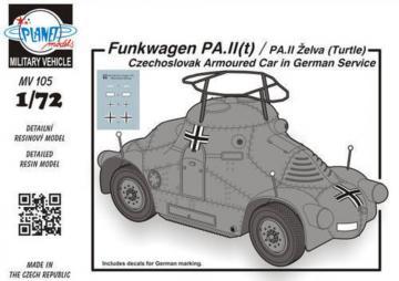 Funkwagen PA.II(t)/PA.II Zelva (Turtle) · PLM MV105 ·  Planet Models · 1:72