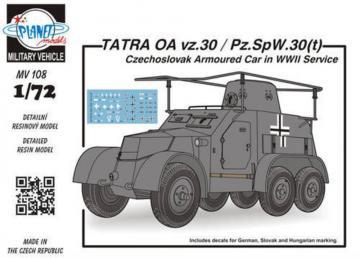 TATRA OA vz.30/Pz.SpW.30(t) Czechosl.Arm · PLM MV108 ·  Planet Models · 1:72