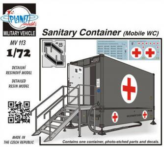 Sanitary Container (Mobile WC) · PLM MV113 ·  Planet Models · 1:72