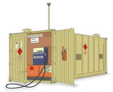 Gas Station Container · PLM MV115 ·  Planet Models · 1:72
