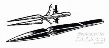 Kreuzpinzette Mit Druck zu öffnende Pinzette · PM 00021 ·  plusmodel