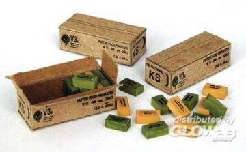 U.S. Feld Ration Kartons · PM 00311 ·  plusmodel · 1:35