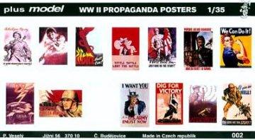 Propaganda Poster Gemischt Deutsch, Englisch, USA, Russisch. · PM 35002 ·  plusmodel · 1:35