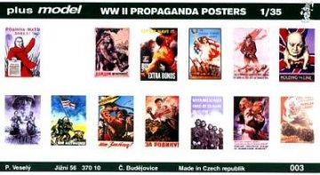 Propaganda Poster Gemischt Deutsch, Englisch, USA, Russisch. · PM 35003 ·  plusmodel · 1:35