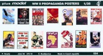 Propaganda Poster Gemischt Deutsch, Englisch, USA, Russisch. · PM 35004 ·  plusmodel · 1:35