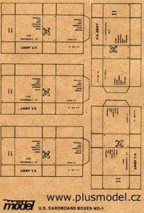 U.S. Transport Kartons WW II, 5 Stück pro Bogen. · PM 35009 ·  plusmodel · 1:35