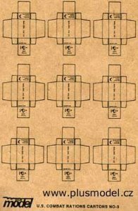 U.S. Kampf-Ration Kartons WW II · PM 35011 ·  plusmodel · 1:35