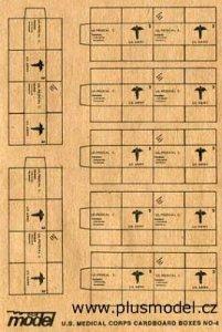 U.S. Medizin-Transp. Kartons WW II · PM 35012 ·  plusmodel · 1:35