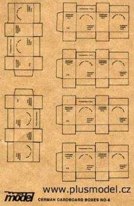 Deutsche Transport Kartons WW II · PM 35014 ·  plusmodel · 1:35