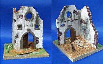 Getreidesilo-Ruine WW II auch für andere Epochen · PM 35031 ·  plusmodel · 1:35