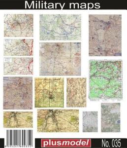WW II Landkarten Universal einsetzbar · PM 35035 ·  plusmodel · 1:35