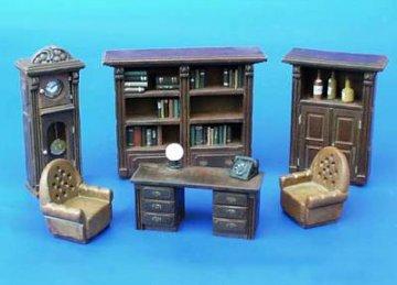 Möbel für Büro/Bibliothek · PM 35093 ·  plusmodel · 1:35