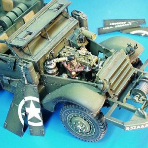U.S. Truppen Halbkettenfahrzeug engine set (white 160AX engine) · PM 35151 ·  plusmodel · 1:35