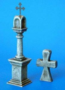 Steinläule mit Friedensangebot Kreuz · PM 35172 ·  plusmodel · 1:35